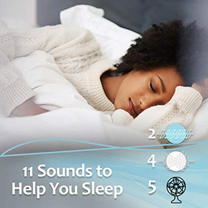 European Adaptive Sound Technologies Lectrofan Micro2 Sleep Sound Machine & Bluetooth Speaker with Fan Sounds, White Noise, & Ocean Sounds for Sleep & Sound Masking