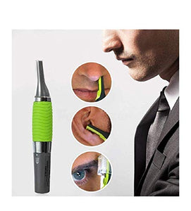 funky stranky All-In-One Personal Micro Touches Touch Ear Nose Neck Eyebrow Precision Hair Trimmer (Green)