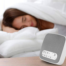 "Load image into Gallery viewer, White Noise Sound Machine €"" Sleep Therapy Noise Maker Plays White Noise, Ocean, Storm, Rainforest, More €"" 7 Soothing Sounds Machine with USB Port & Sleep Timers (New 2019)"