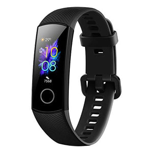 FunkyStranky Band 5 (MeteoriteBlack)- Waterproof Full Color AMOLED Touchscreen, SpO2 (Blood Oxygen), Music Control, Watch Faces Store, up to 14 Day Battery Life