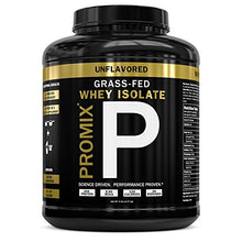 Load image into Gallery viewer, Native Whey Protein Isolate Powder Concentrate: PROMIX Standard 100 Percent All Natural Grass Fed & Undenatured ­Best Optimum Fitness Nutrition Shakes & Energy Smoothie Bowls: Unflavored 5lb