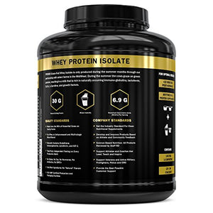 Native Whey Protein Isolate Powder Concentrate: PROMIX Standard 100 Percent All Natural Grass Fed & Undenatured ­Best Optimum Fitness Nutrition Shakes & Energy Smoothie Bowls: Unflavored 5lb