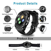 Load image into Gallery viewer, FunkyStranky Bluetooth Touch Screen Smart Watch Phones with Camera, SIM, SD Card Slot Black
