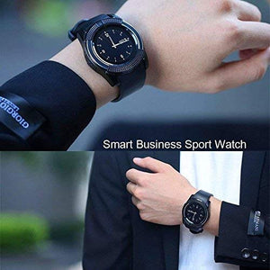 FunkyStranky Bluetooth Touch Screen Smart Watch Phones with Camera, SIM, SD Card Slot Black