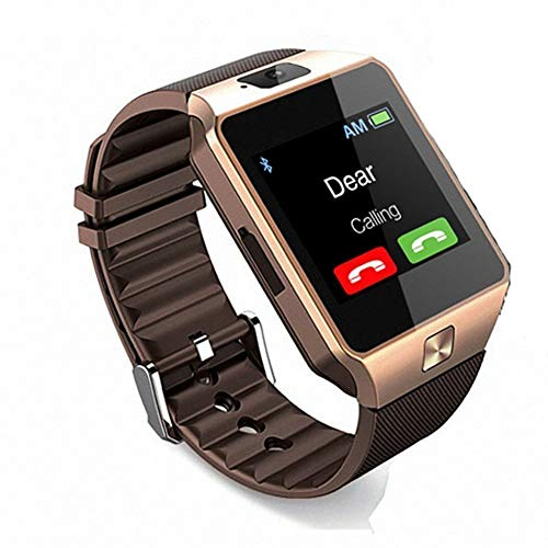 Zeekart DZ09 Bluetooth Smart Watch with Camera, Sim & SD Card Slot (Gold)