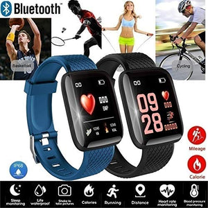 Smart Band Fitness Tracker Watch Heart Rate with Activity Tracker Waterproof Body Functions Like Steps Counter, Calorie Counter, Blood Pressure, Heart Rate Monitor LED Touchscreen (Multi Colored)