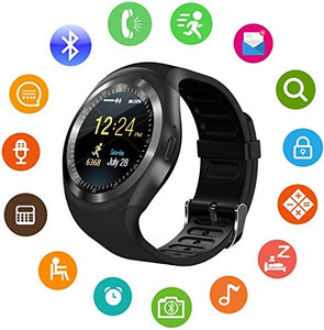 Funky Stranky Unisex Bluetooth 4g Smart Watch for Men/Girls/Women/4g Sim Card Support/Touch Screen/Compatible with All Android Mobile Phones,Smart Watches for Kids Boys,Digital Watch for Boys(Random Color)