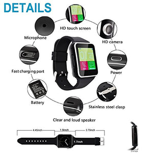 Funky Stranky X6 Bluetooth Smartwatch Wrist Watches Support Micro SIM Card for Android Samsung HTC Sony Huawei LG Smartphone
