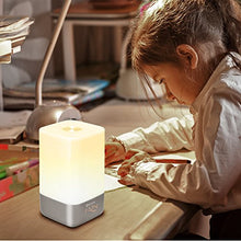 Load image into Gallery viewer, Wake-Up Light Alarm Clock, Zerone Sunrise Simulation Bedside Lamp with 5 Natural Sounds