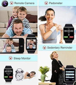 Bluetooth Smartwatch Compatible with All Mobile Phones for Boys and Girls Smart Watch (Gold)