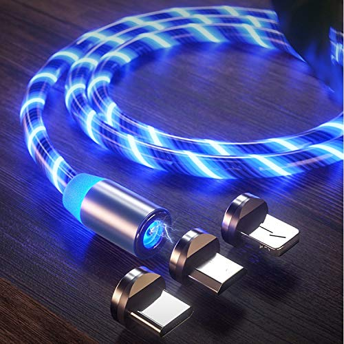 LED Light Flow Cable Fast Charging Cable Type C Charging Cable for All Phones and Tab Models