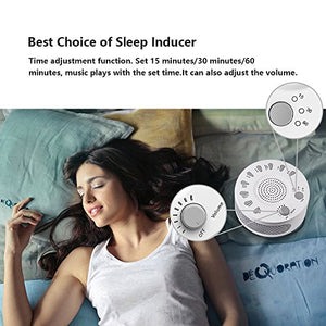 Rekome Sleep Helper Sound Relaxation Machine with 9 Unique Natural Sounds (White)