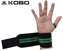 Load image into Gallery viewer, Kobo WTA-04 Power Cotton Gym Support with Thumb Support Grip Gloves (Black)