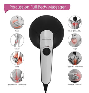 HealthSense HM210 Toner-Pro Electric Handheld Percussion Body Massager (Royal Grey)