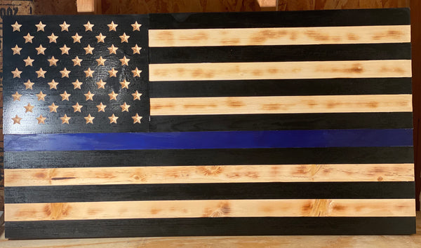 "Thin Blue Line Flag 35"" x 19.5"""