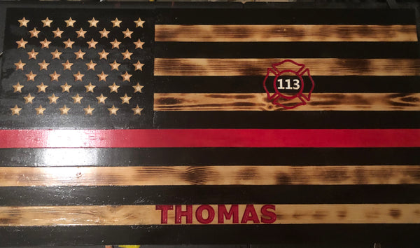 "Thin Red Line Flag 35""x19.5"""