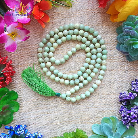 Chrysoprase Japa Mala: For Depression & Emotional Imbalance