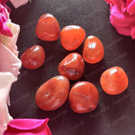Red Carnelian Tumbled Stones ( Pack of 4 stones)