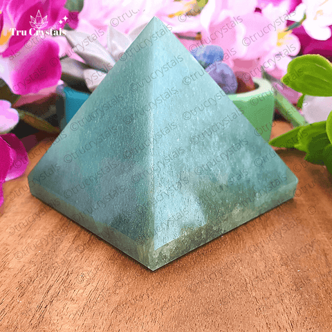 Green Aventurine Pyramid for Wealth & Prosperity
