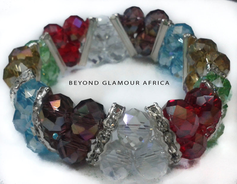Multi Colored Double Crystal Bracelet - WISAKI