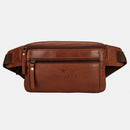 Finelaer Dark Brown Leather Fanny Waist - WISAKI ONLINE STORE
