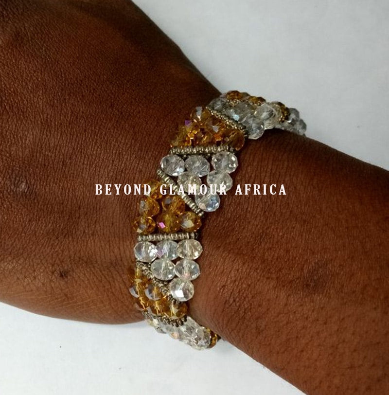 Yellow Tripple Crystal Bracelet - WISAKI
