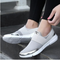Split Leather Unisex Light Weight Shoes Silver - WISAKI ONLINE STORE