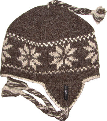 Snowflake Earflap Brown - 10503