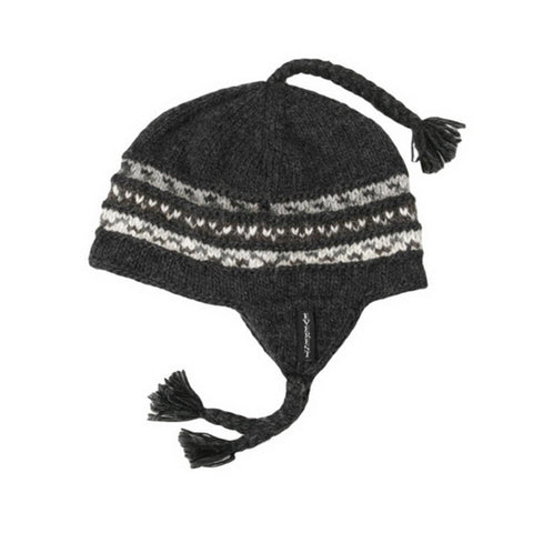 Braided Earflap Black - 15402-K