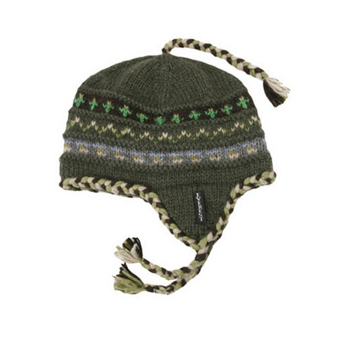 Braided Earflap Green - 15403-K