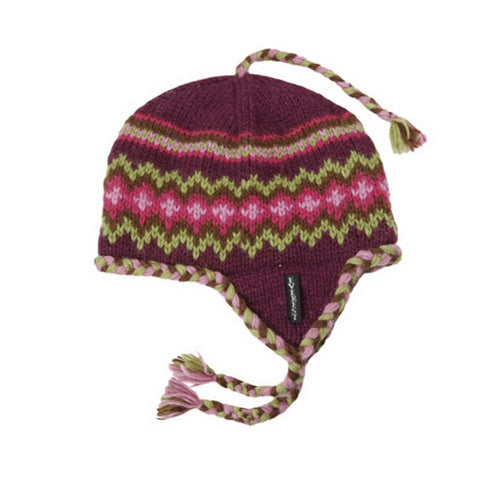 Braided Earflap Purple - 15404-K