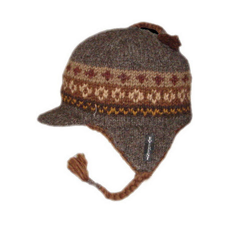 Earflap Hat with Visor Nordic Brown - 16241