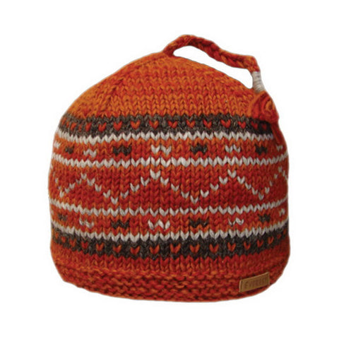 Aspen Beanie Navy Orange - 40298