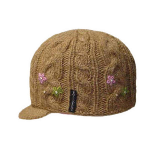 Flower Cable with Visor Beige - 43801