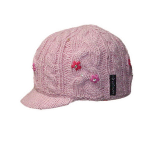 Flower Cable with Visor Pink - 43803