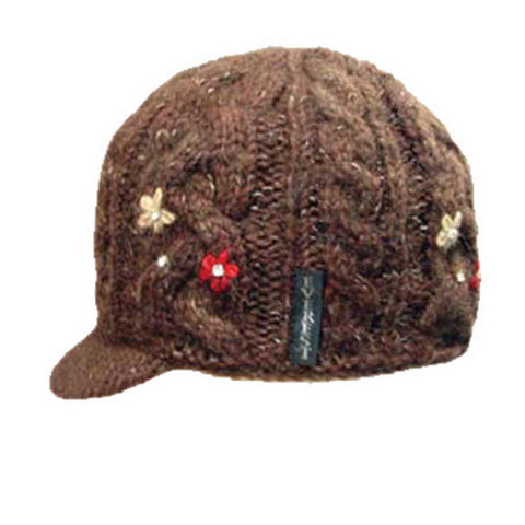Flower Cable with Visor Brown - 43804