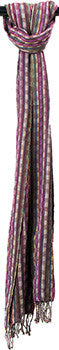 Scarves Plum Stripe - SC14201
