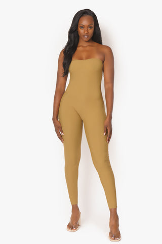 Dark Tan Tube Catsuit
