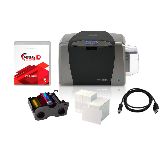 HID FARGO DTC1250e Single-Sided PVC ID Card Printer