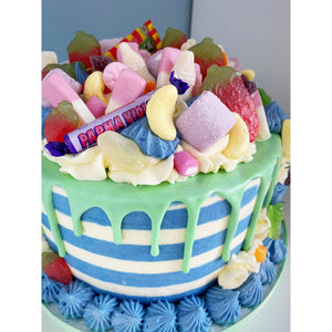 Stripey Sweet Explosion Cake