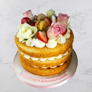 Undressed Flower Cake