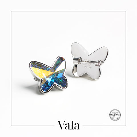 Brooch Butterfly (Crystal AB)