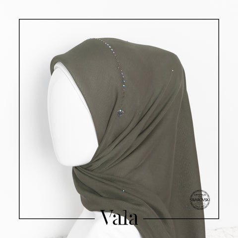 Tudung Bawal Crown | Army Green