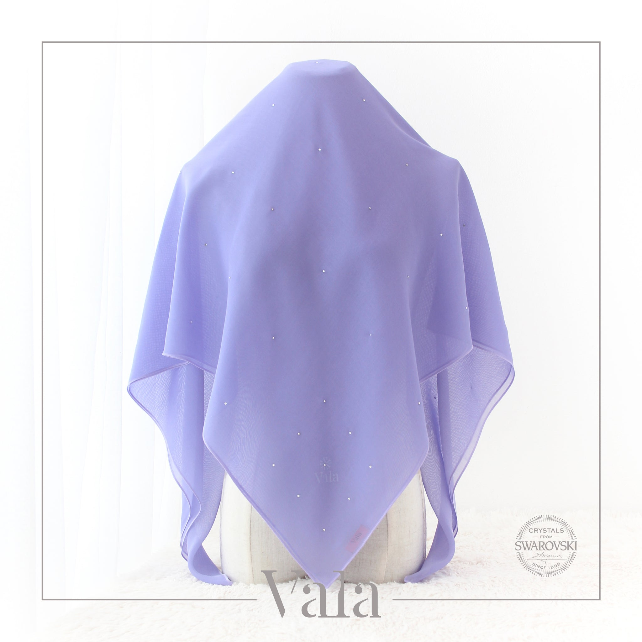 tudung bawal light purple