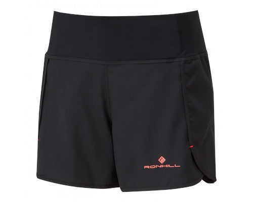 Ronhill Stride Revive Short - Black/Hot Coral