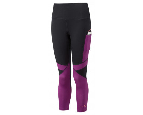 Ronhill Stride Revive Crop Tight - Black/Grape