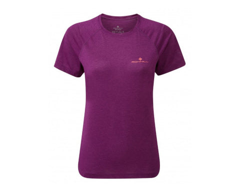 Ronhill Stride SS Tee - Grape Juice Marl