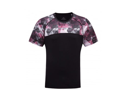 Ronhill Stride Revive SS Tee - Black/Mulberry