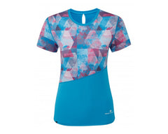 Ronhill Stride Revive SS Tee - Sky Blue/Cherryade