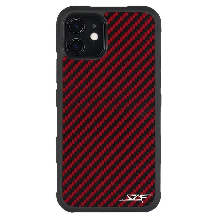 iPhone 11 Red Carbon Fiber Case | ARMOR Series